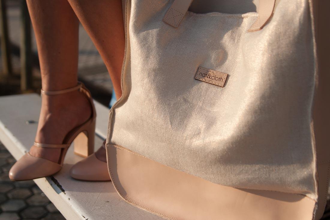 Detalle de bolso de NAT&CLOTH.