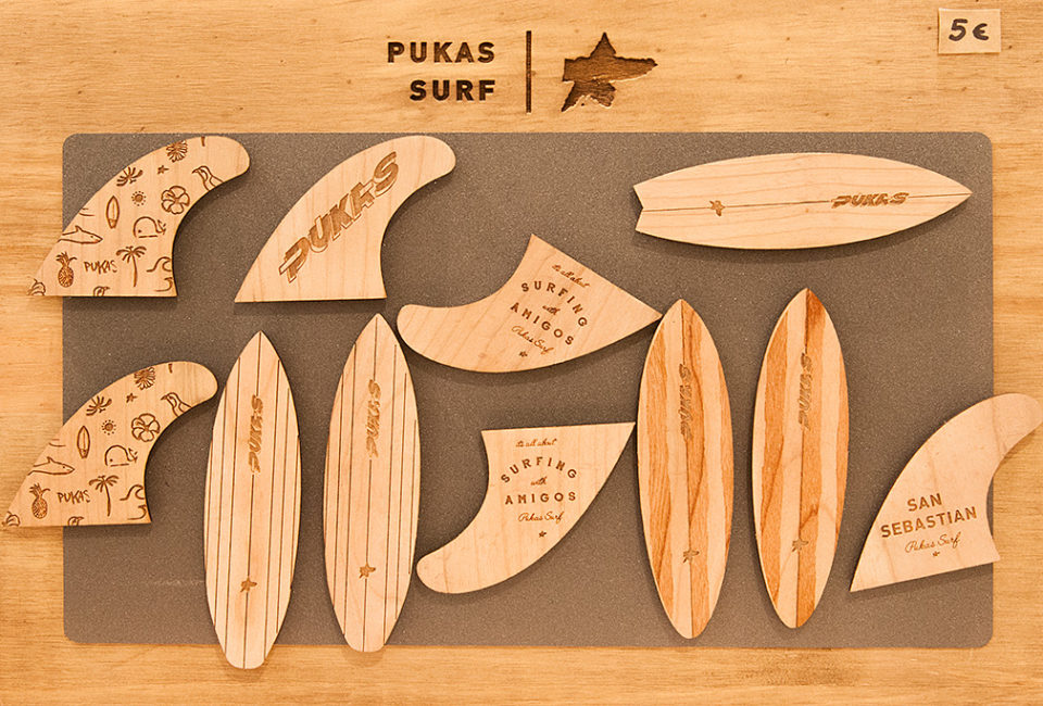 Réplica de tablas de surf PUKAS.
