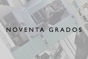 Logotipo de NOVENTA GRADOS para página de colaboradores.