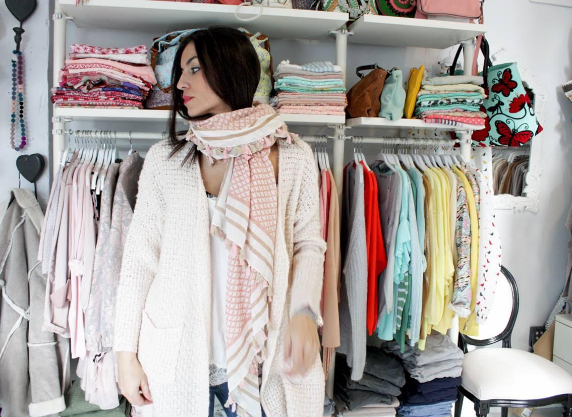 Nagore Pérez en su tienda Little Lola.