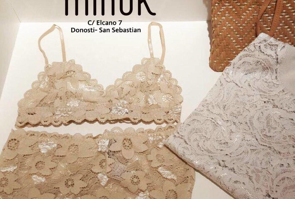 Prendas de la tienda Minük de Donostia-San sebastián.