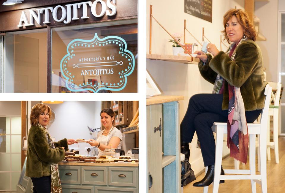 Cristina Reparaz de la inmobiliaria MONPAS en el interior de ANTOJITOS.