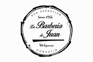 Logotipo de La barbería de Juan para página de colaboradores.
