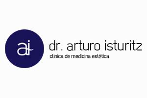 Logotipo de Arturo Isturitz / Clínica isturitz para página de colaboradores.