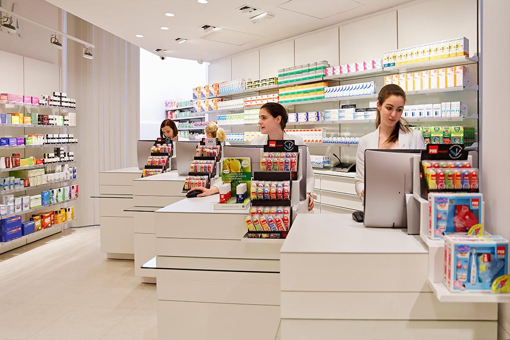 Interior de Farmacia 24 horas Plaza Guipúzcoa