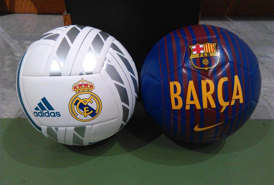 Balones de la tienda deportiva ROBERS.